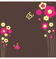 springtime floral butterfly vector image