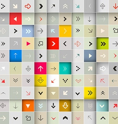 Arrows Seamless Background Set vector image vector image
