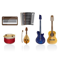 music instrument icons vector image vector image