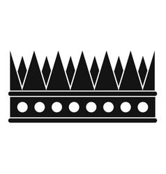 regal crown icon simple style vector image vector image