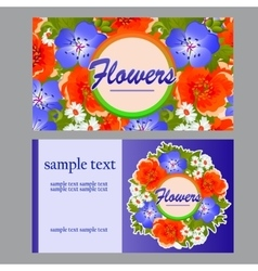 Two colorful cards for your business needs vector image vector image