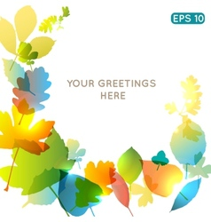 Abstract colorful leafs background vector image vector image