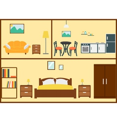 Home interior design vector image