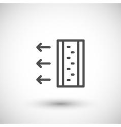 Insulation scheme line icon vector image