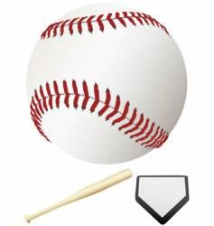 major league baseball elements vector image vector image