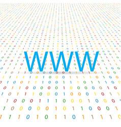 www symbol on a digital background vector image vector image