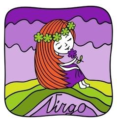 Zodiac signs Virgo vector image