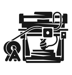 3d printer icon simple style vector image