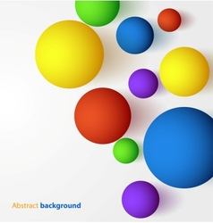 Abstract 3d colorful spheric background vector