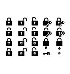 Access locker icon padlock sign vector