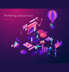 analysis of marketing perspectives infographic vector image