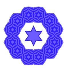 Blue David Star Jewish Symbol of Religion vector