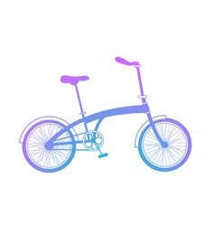 Blue gradient bicycle on white background vector