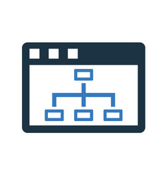 Browser sitemap structure icon graphics vector