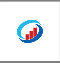 business finance circle logo vector image