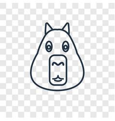 Capybara concept linear icon isolated on vector