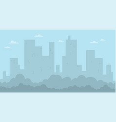 cartoon flat city landscape and skyscrapers vector image