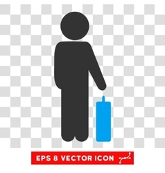 Child Baggage Eps Icon vector