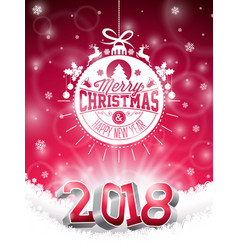 Christmas and 2018 happy new year vector