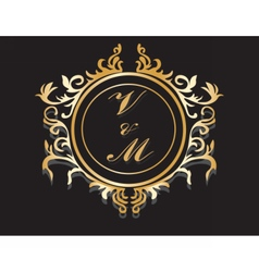 Classic Golden Royal frame vector
