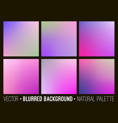 Color abstract blurred background set vector
