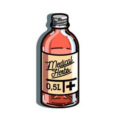 color vintage pharmacy emblem vector image