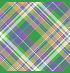 colored check pixel plaid fabric seamless pattern vector image