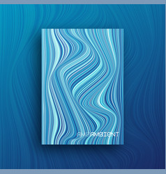 colorful abstract geometric wavy cover brochure vector image