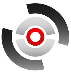 Crosshair icon target symbol pinpoint bullseye vector