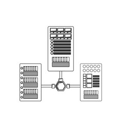 database servers storages vector image