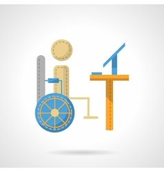 Distance education or job flat icon vector image