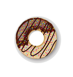 Donuts sweet dessert two vector