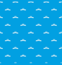 Eco gyro scooter pattern seamless blue vector