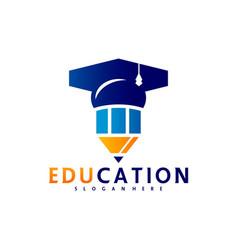 Education logo design template icon symbol vector