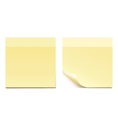 empty yellow sticker paper for reminding - set vector image