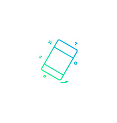 eraser icon design vector image