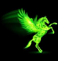 Fair Horse Pegas on hind legs 03 vector image