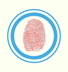 Fingerprint scan Touch vector image