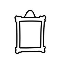 frame photo hanging empty icon thick line vector image