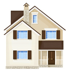 front door house vector image