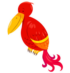 funny parrot cartoon animal character vector image