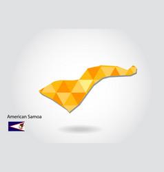 geometric polygonal style map of american samoa vector image