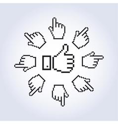 hand cursors vector image