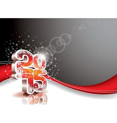 Happy New Year 3 d 2015 celebration background vector