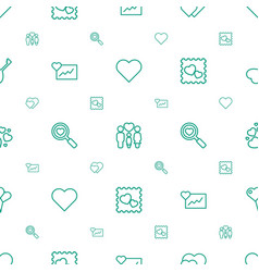 heart icons pattern seamless white background vector image