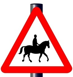 Horse and Rider Traffic Sign vector