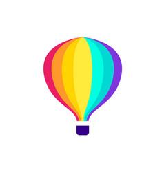 Hot air travel balloon icon vector