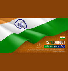 Indian independence day horizontal web banner vector