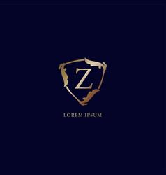 Letter z alphabetic logo design template luxury vector
