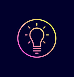light bulb idea icon vector image